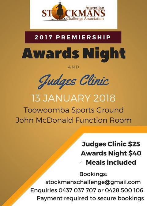 Awards Night & Judges Clinic